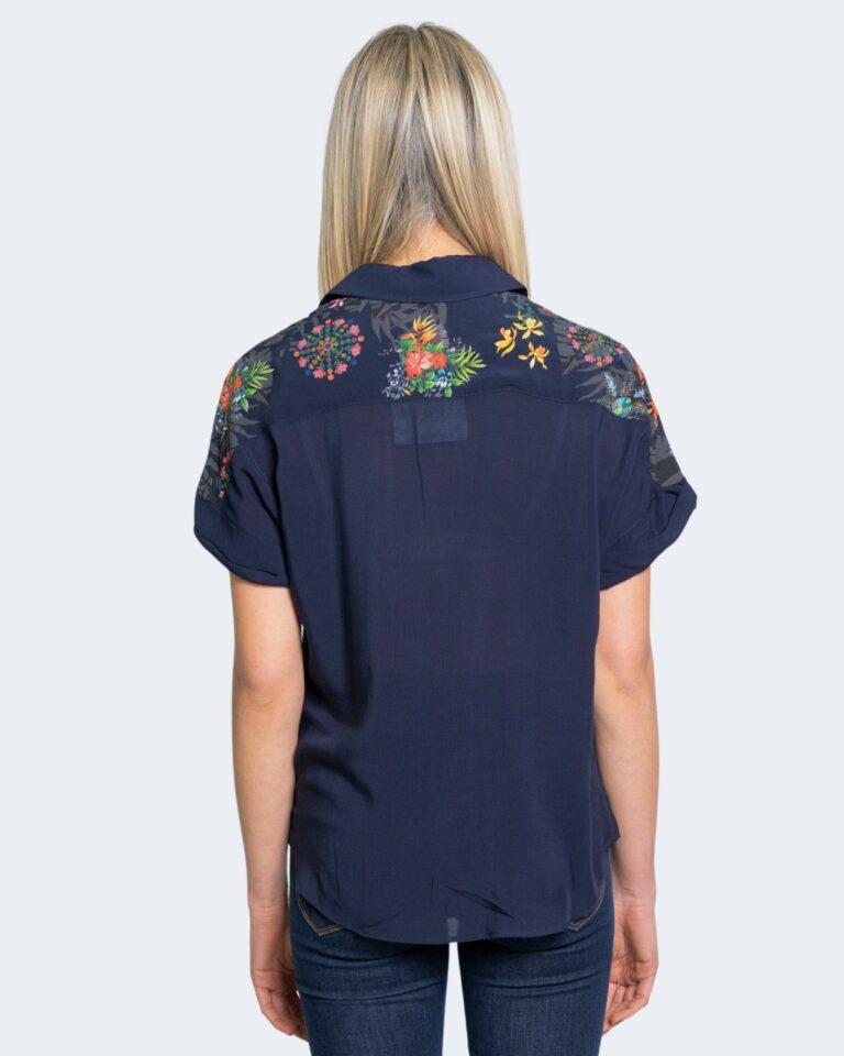 Camicia manica corta Desigual LUNA Blu - Foto 2
