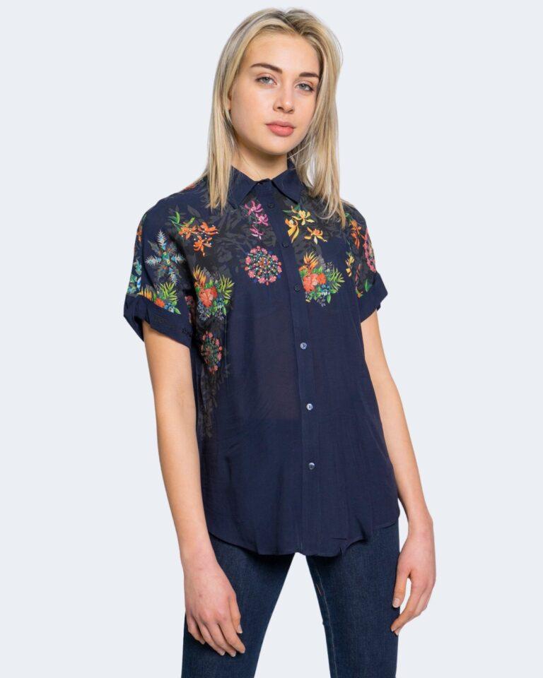Camicia manica corta Desigual LUNA Blu - Foto 4