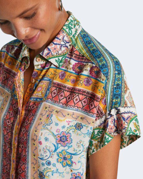 Camicia manica corta Desigual YAEL Giallo – 65783