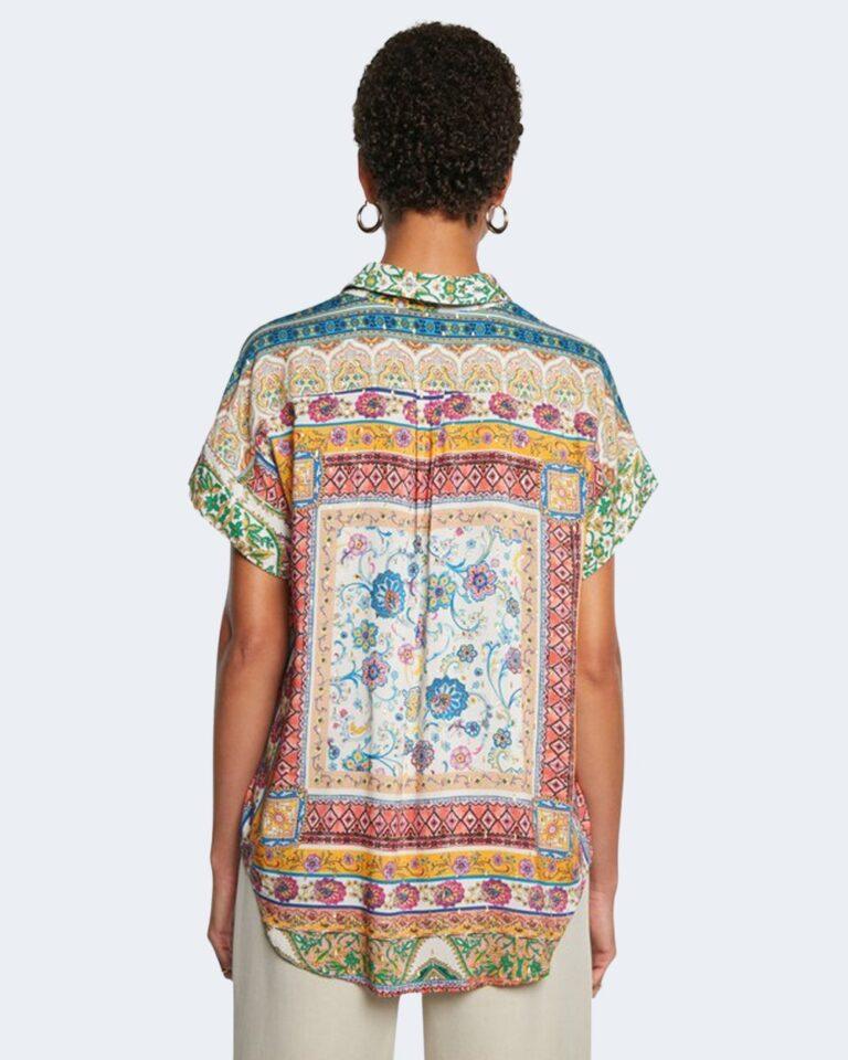 Camicia manica corta Desigual YAEL Giallo - Foto 3