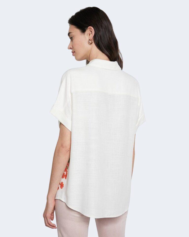 Camicia manica corta Desigual GRISOL Panna - Foto 3