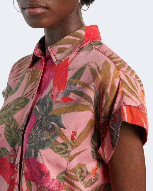 Camicia manica corta Desigual ROUS Rosa - Foto 3