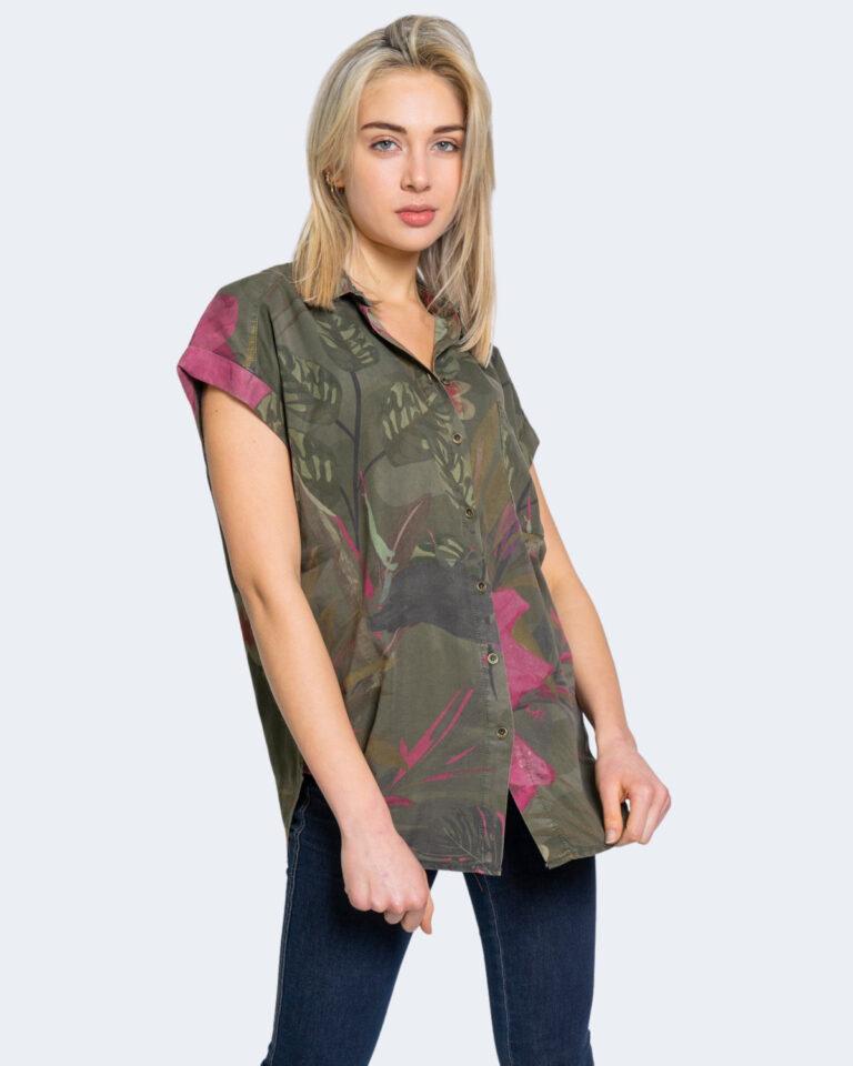 Camicia manica corta Desigual ROUS Verde Oliva - Foto 1