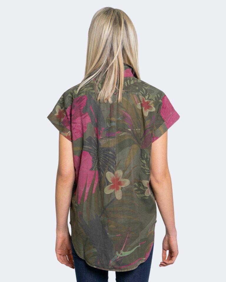 Camicia manica corta Desigual ROUS Verde Oliva - Foto 2
