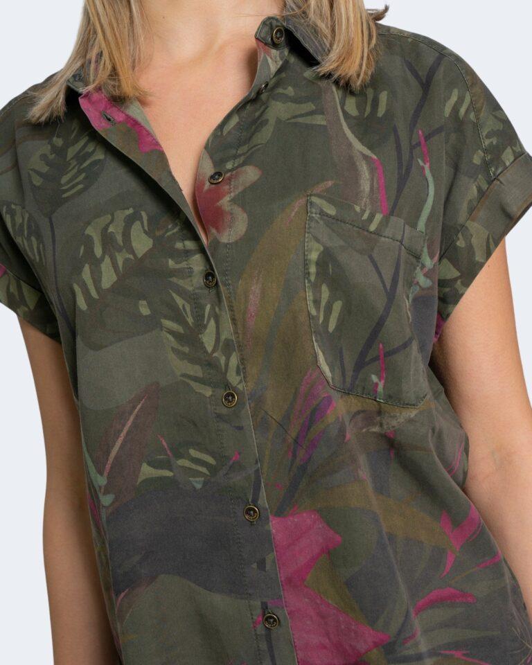Camicia manica corta Desigual ROUS Verde Oliva - Foto 3
