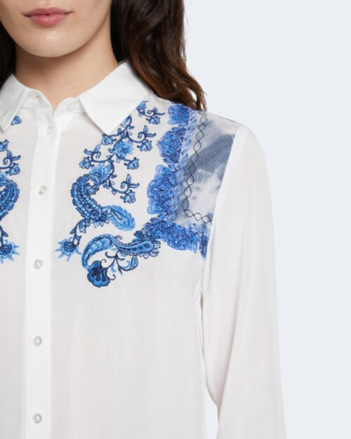 Camicia manica lunga Desigual BARCINO Bianco - Foto 2