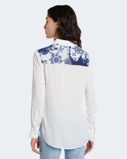Camicia manica lunga Desigual BARCINO Bianco - Foto 3