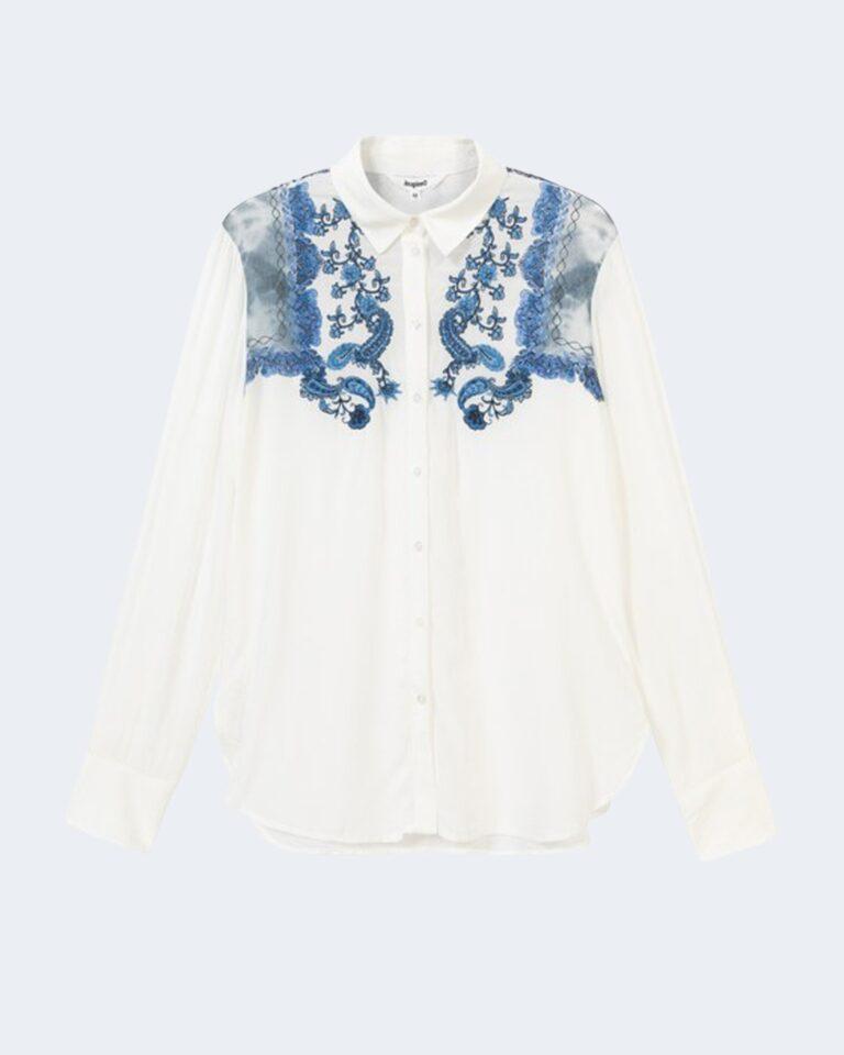 Camicia manica lunga Desigual BARCINO Bianco - Foto 4