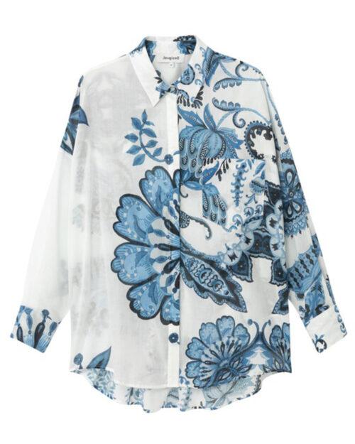 Camicia manica lunga Desigual INARA Bianco - Foto 4