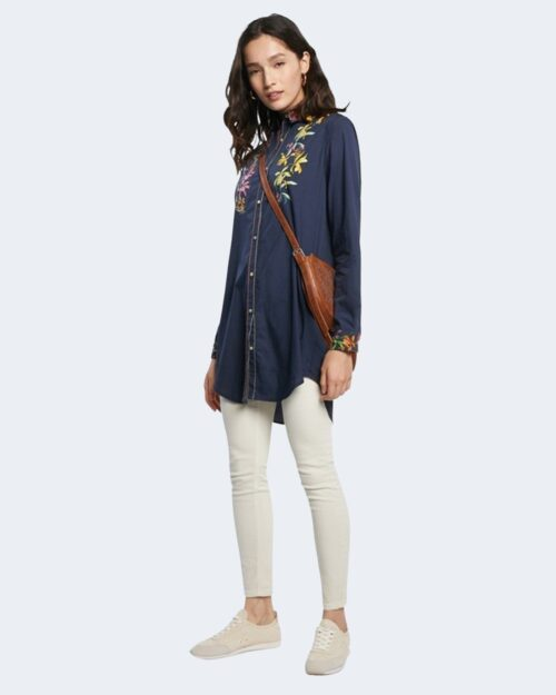 Camicia manica lunga Desigual VAILINA Blu - Foto 2