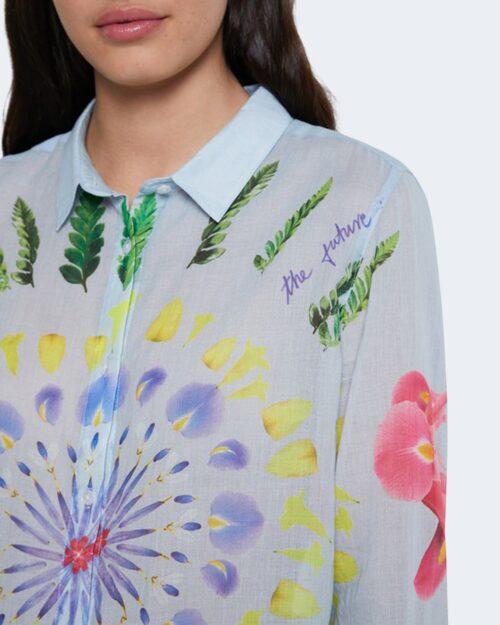 Camicia manica lunga Desigual YUKON Celeste - Foto 2