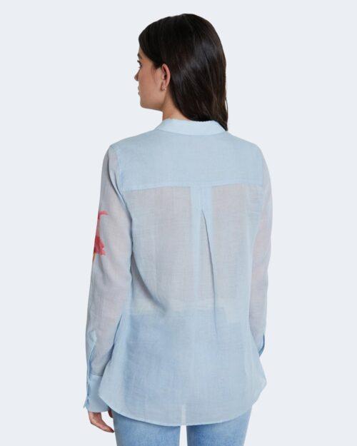 Camicia manica lunga Desigual YUKON Celeste - Foto 3