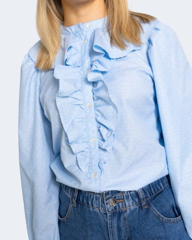 Camicia manica lunga Only GWENDA Celeste - Foto 4