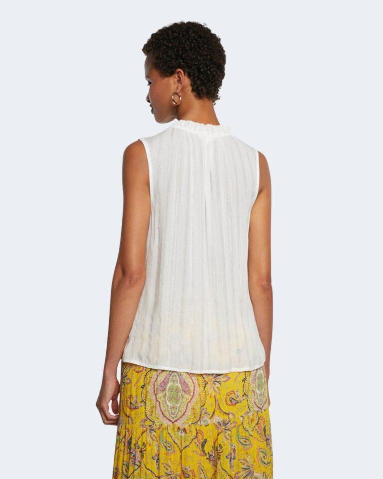 Blusa manica corta Desigual HANNA Bianco - Foto 3