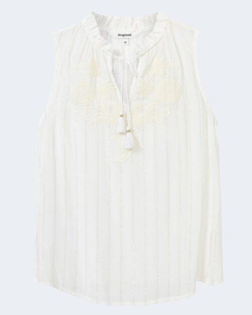Blusa manica corta Desigual HANNA Bianco - Foto 4