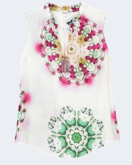 Blusa manica corta Desigual ROSEN Bianco - Foto 4