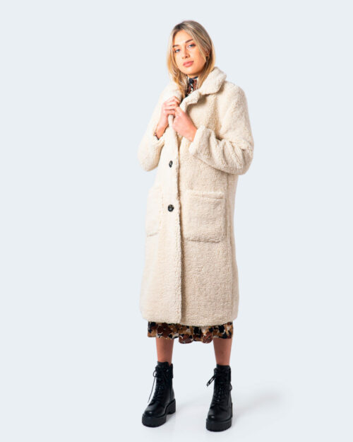 Cappotto Only Star Long Emb Teddy Coat Panna – 61202
