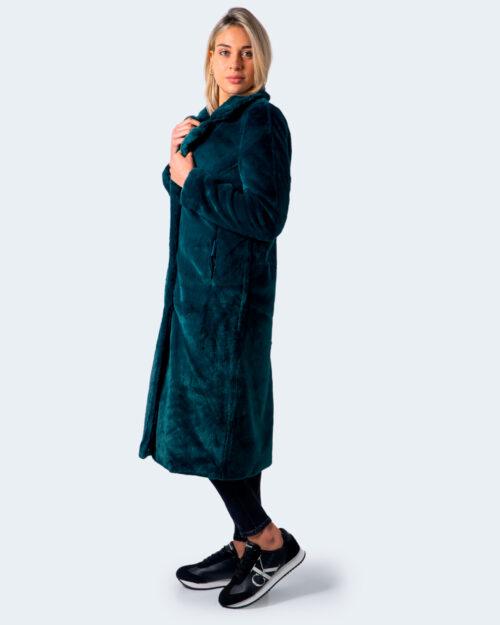 Cappotto Only Frida Long Faux Fur Coat Otw Verde – 59624