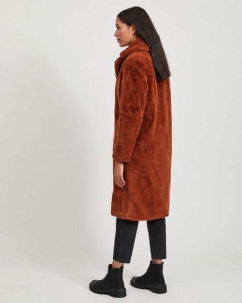 Cappotto Vila Clothes Koda Faux Fur Coat/1 Marrone – 61314