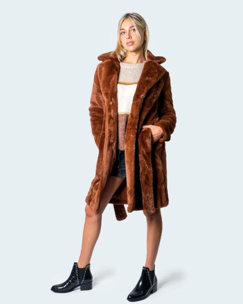 Cappotto Vila Clothes NEW FAUX FUR COAT Mattone – 54923