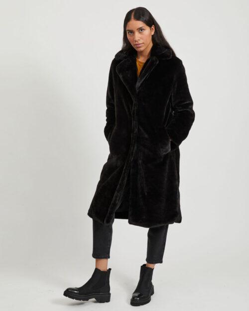 Cappotto Vila Clothes Koda Faux Fur Coat/1 Nero – 61314