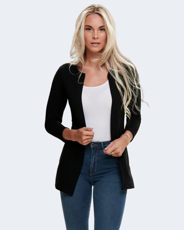 Cardigan Only Leco 7/8 Long Cardigan jrs Noos Nero - Foto 1