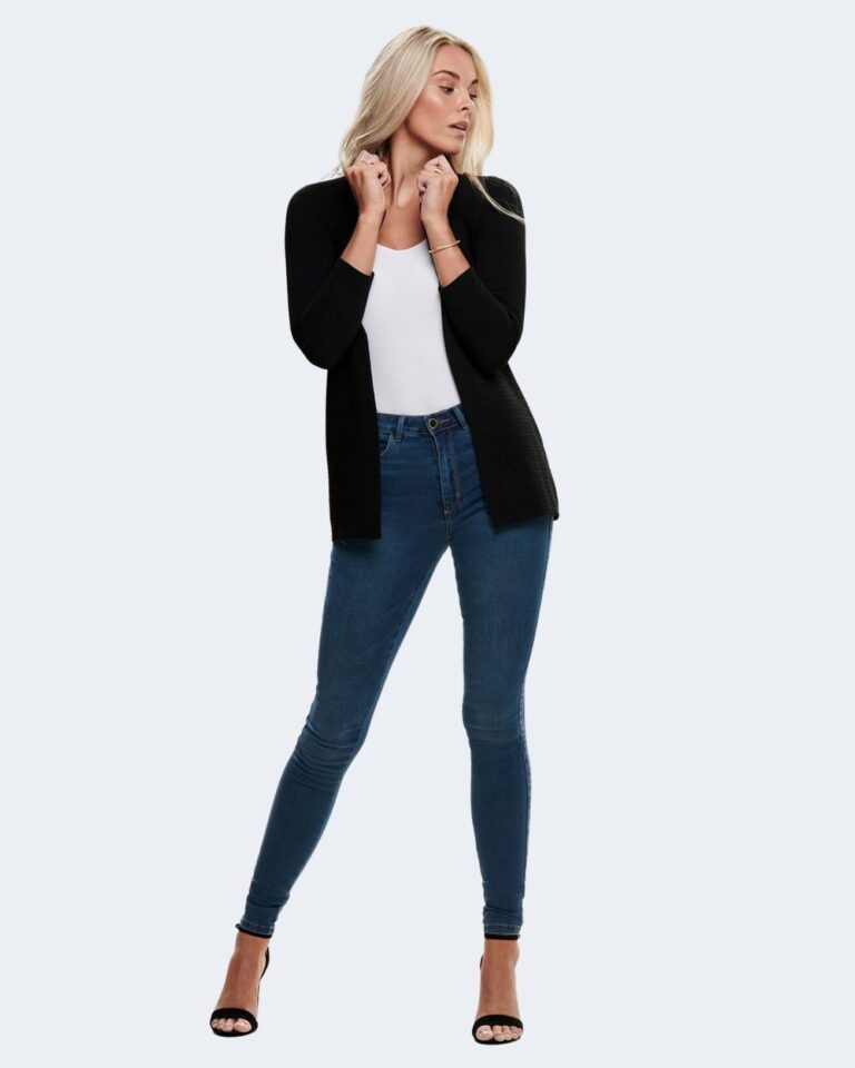 Cardigan Only Leco 7/8 Long Cardigan jrs Noos Nero - Foto 2