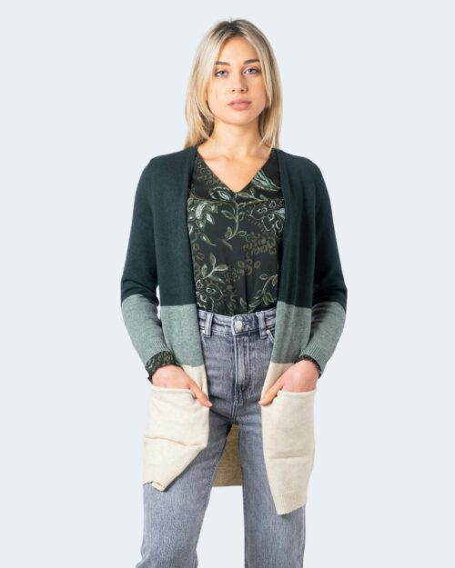 Cardigan Only QUEEN L/S LONG CARDIGAN KNT NOOS Verde – 61243