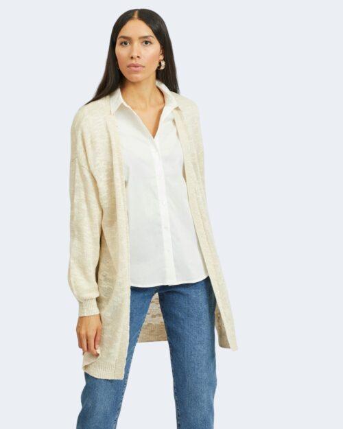 Cardigan Vila Clothes POCA OPEN Bianco – 62980