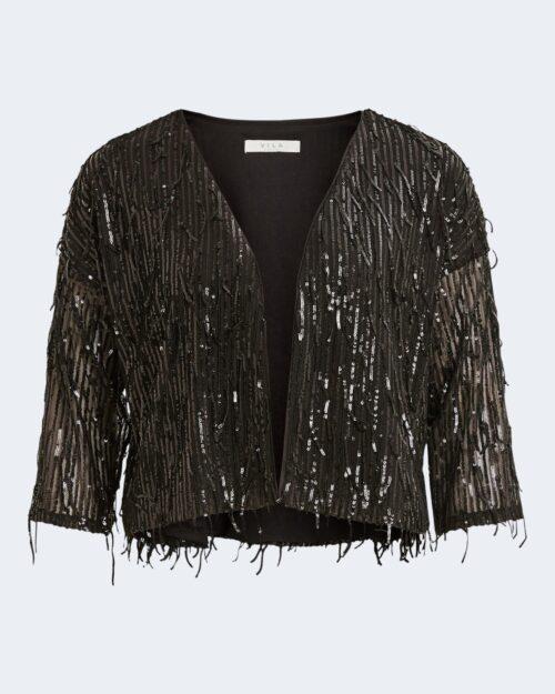 Cardigan Vila Clothes Romanti Sequin Coverup Nero – 61312