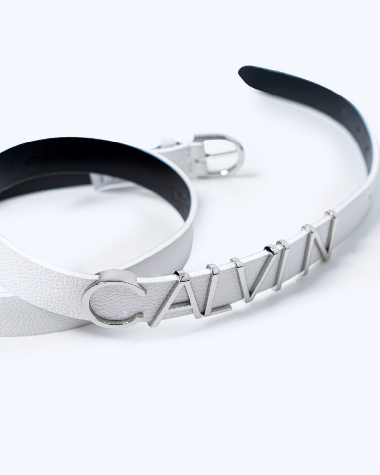 Cinta Calvin Klein ROUND BUCKLE BELT 20MM Bianco - Foto 4