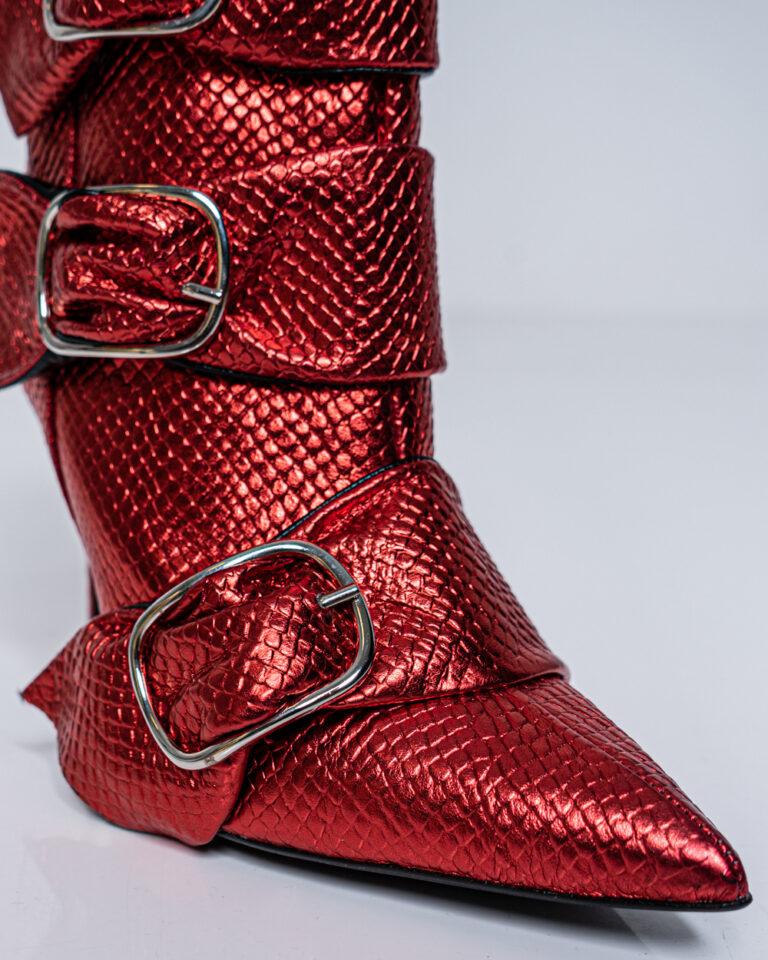 Scarpe con tacco Aniye By NITA SNAKE BOOTS Rosso - Foto 4