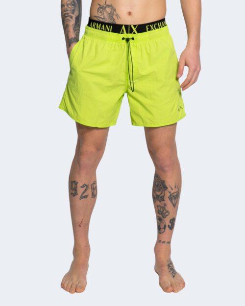 Costume da bagno Armani Exchange TINTA UNITA CON LOGO Giallo lime – 65124