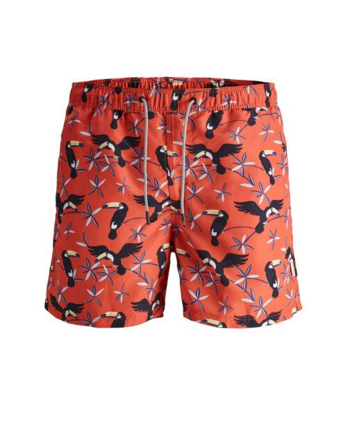 Costume da bagno Jack Jones ARUBA SWIMSHORTS AKM ANIMAL STS Rosso – 42069