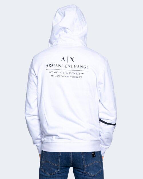 Felpa con cappuccio Armani Exchange SWEATSHIRT Bianco – 65132