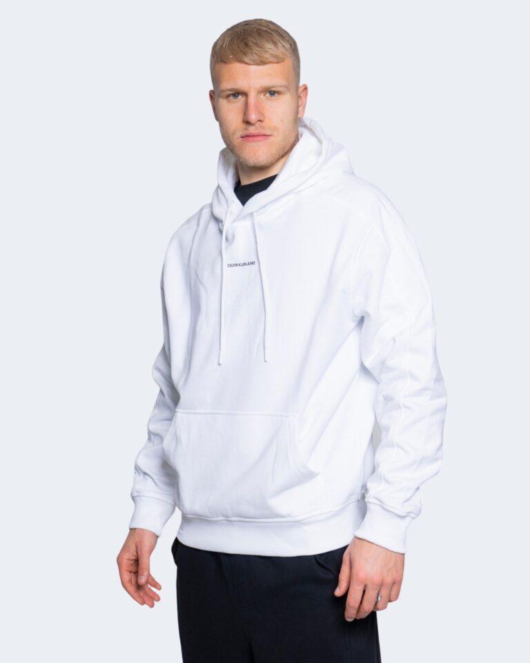 Felpa con cappuccio Calvin Klein Jeans MICRO BRANDING HOODI Bianco - Foto 1
