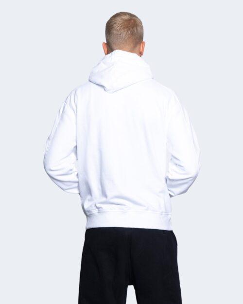Felpa con cappuccio Calvin Klein Jeans MICRO BRANDING HOODI Bianco - Foto 3
