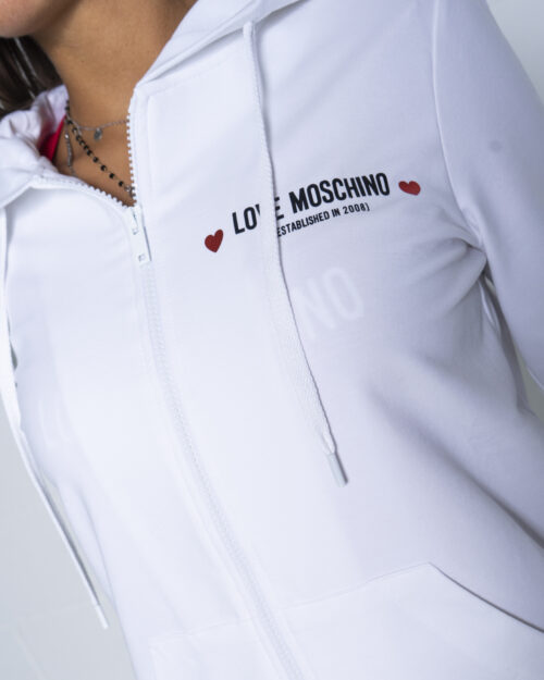 Felpa con cappuccio Love Moschino  Bianco - Foto 4