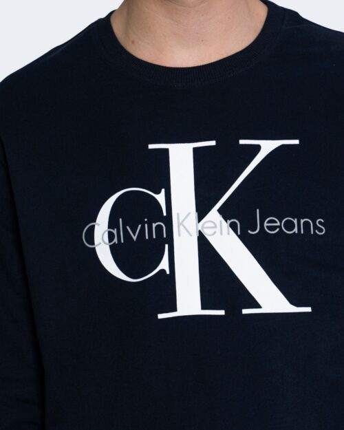 Felpa senza cappuccio Calvin Klein MONOGRAM LOGO Blu – 65245