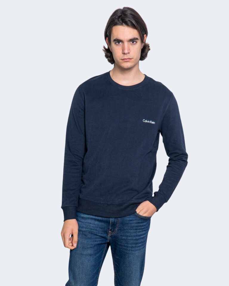 Felpa senza cappuccio Calvin Klein Jeans SWEATSHIRT Blu - Foto 1