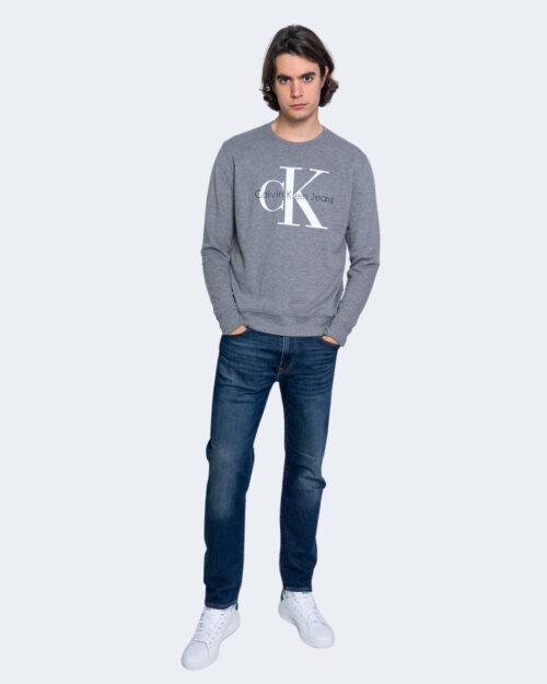 Felpa senza cappuccio Calvin Klein MONOGRAM LOGO Grigio – 65245