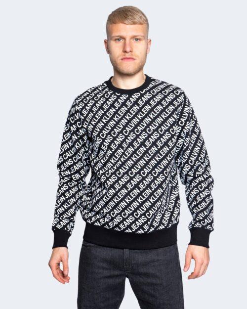 Felpa senza cappuccio Calvin Klein DIAGONAL LOGO Nero – 64636