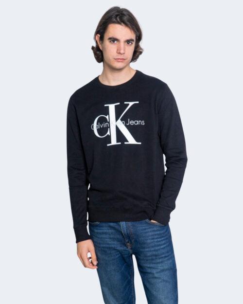 Felpa senza cappuccio Calvin Klein MONOGRAM LOGO Nero – 65245