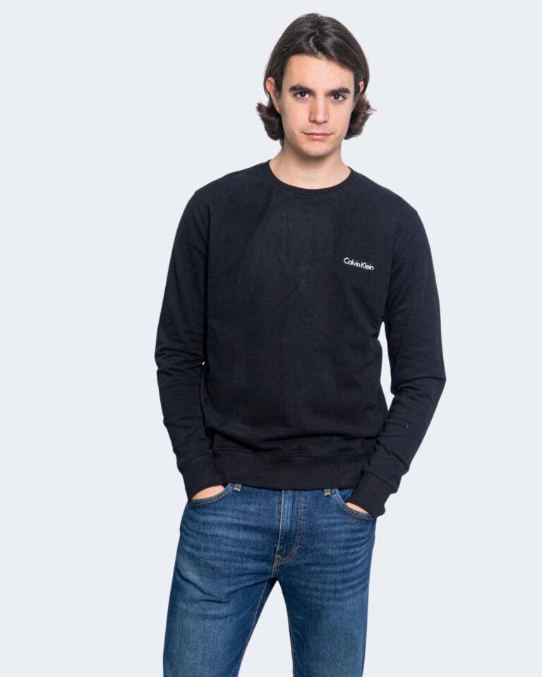 Felpa senza cappuccio Calvin Klein Jeans SWEATSHIRT Nero - Foto 1