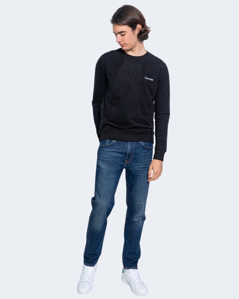 Felpa senza cappuccio Calvin Klein Jeans SWEATSHIRT Nero - Foto 2