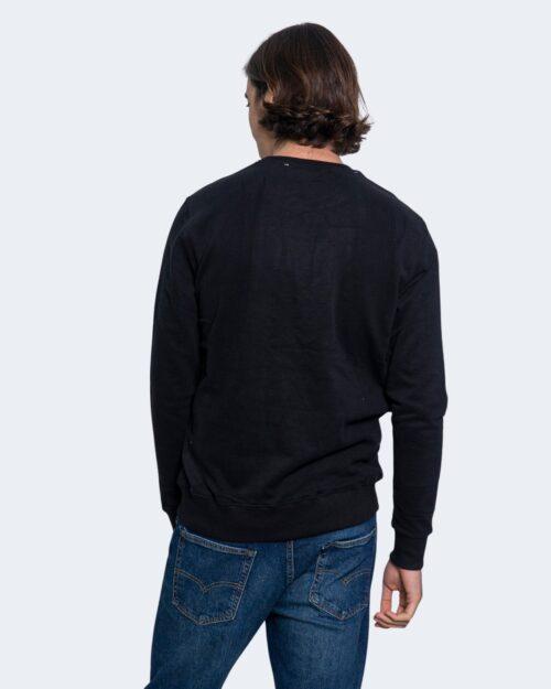 Felpa senza cappuccio Calvin Klein Jeans SWEATSHIRT Nero - Foto 4