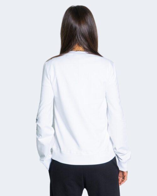 Felpa senza cappuccio Love Moschino OPTICAL WHITE AND BLACK Bianco – 66280