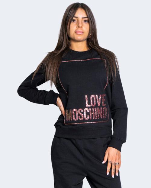 Felpa senza cappuccio Love Moschino LOGO FRONTALE Nero – 66281