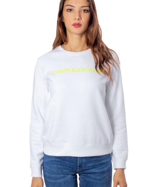 Felpa senza cappuccio Calvin Klein Institutional Regular Crew Neck Bianco – 30745