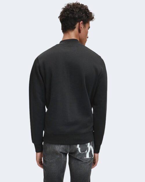 Felpa senza cappuccio Calvin Klein SHINY MONOGRAM CREW NECK Nero – 62523